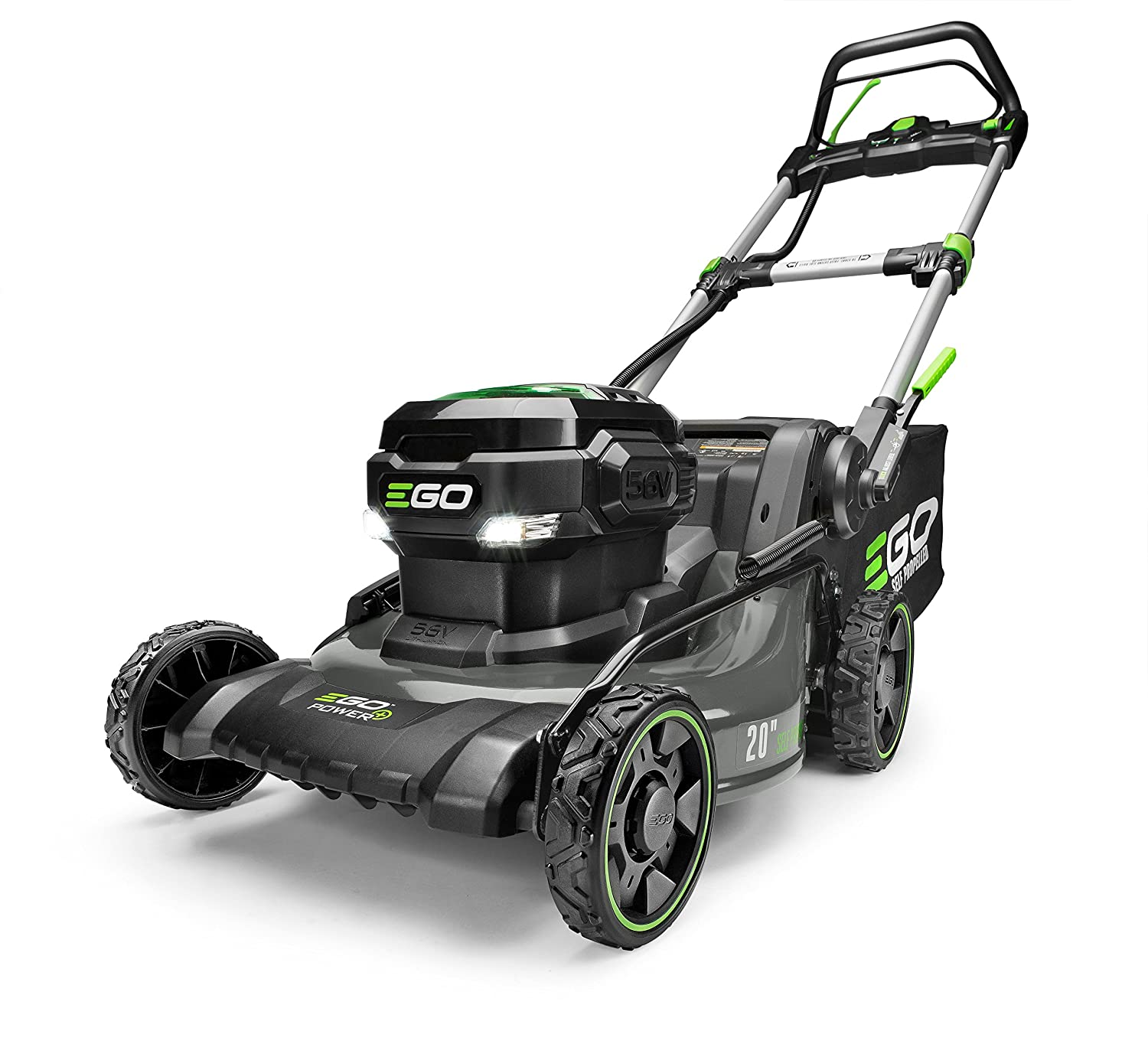 df5a64e8f EGO Power+ LM2020SP 20-Inch 56-Volt Lithium-ion Brushless Steel Deck Walk  Behind Self-Propelled Lawn Mower Battery and Charger Not Included, 56 V,  Green