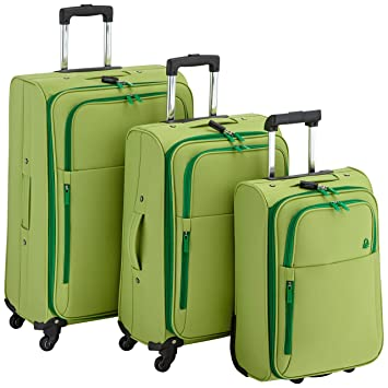 Benetton Lote de 3 Maletas Con Ruedas UNDERSCORE_58073313_VERDE 18 L: Amazon.es: Equipaje