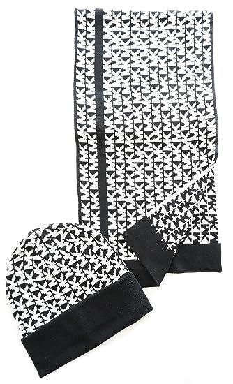 0e527efdf3e9 Michael Kors - Ensemble bonnet, écharpe - Femme multicolore noir blanc  Taille unique  Amazon.fr  Vêtements et accessoires