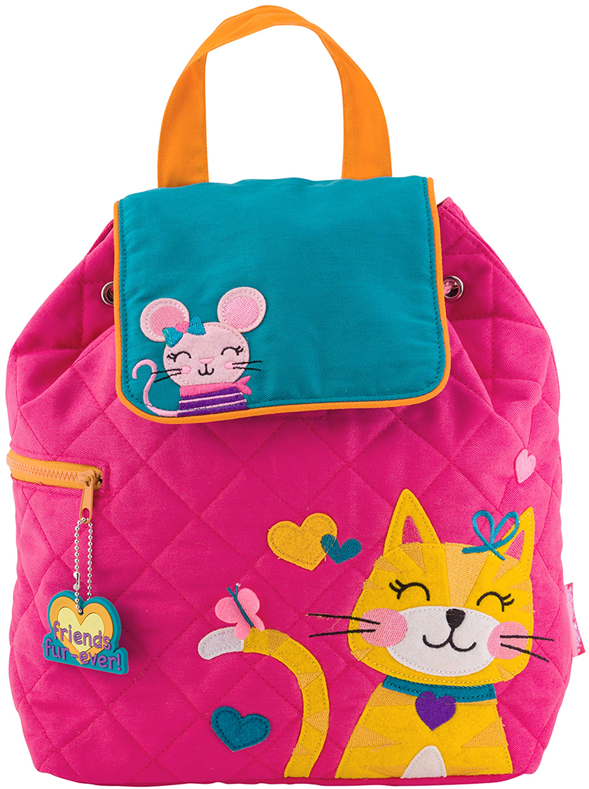 Stephen Joseph Girl Little Quilted Backpack, Pink Cat, One Size