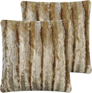 Livingston Home 1603PNI-ST-BR Home Collection Pillow Shells 18 X 18 Inches 4Pcs-Pack, Dark Brown
