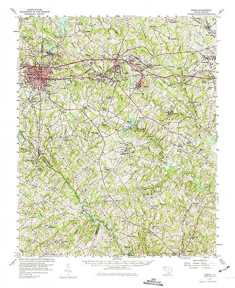 Amazon Com Yellowmaps Greer Sc Topo Map 1 62500 Scale 15 X 15