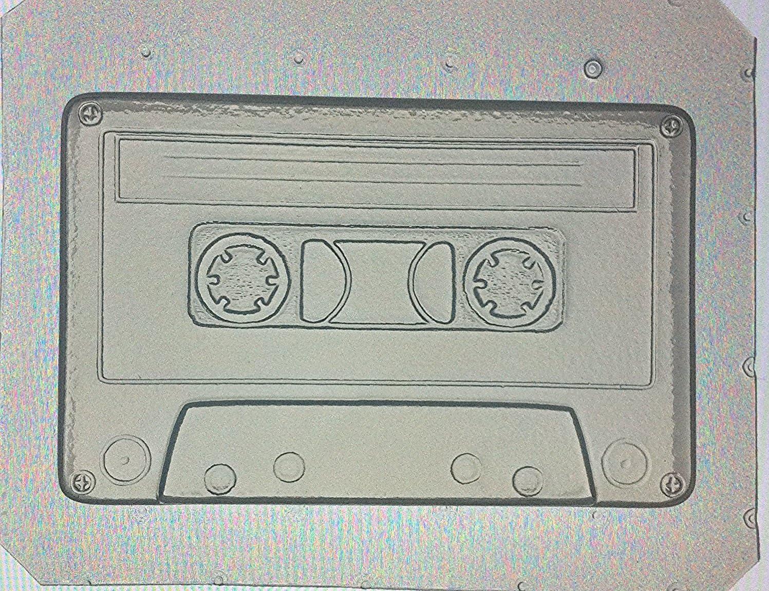 """Flexible Soap Mold Custom Cassette Tape 4/"""" in Length x 1//2/"""" Deep"""
