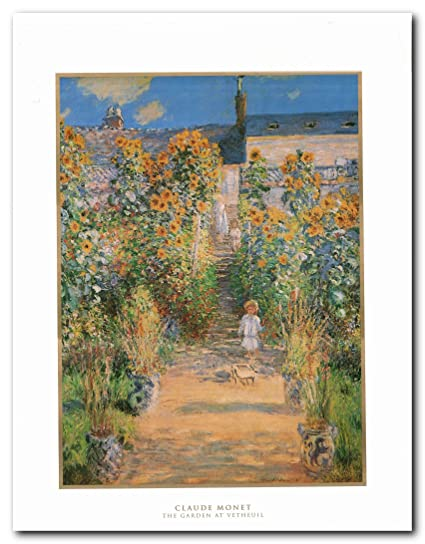 Picture Wall Decoration Claude Monet The Garden At Vetheuil Art Print  Poster Painting (22x28)