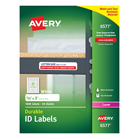 Amazon Avery Durable White Cover Up Id Labels For Laser