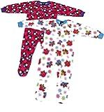 Just Love Girls Footed Pajamas/Flannel Blanket Sleepers (Pack of 2)