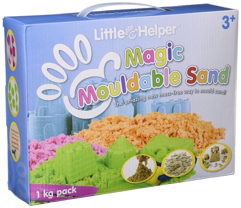 Little Helper NBMMS01-1000ES - Arena mágica moldeable con bandeja de plástico, color natural