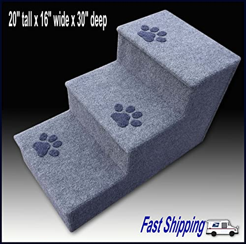 Navarce Dog Steps, Pet Steps, Doggy Stairs with paw Prints.