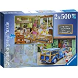 Ravensburger Day with Grandpa and Grandma 2x 500pc Jigsaw Puzzle
