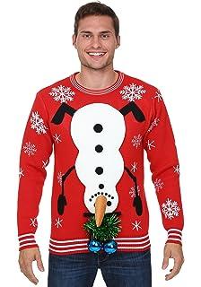 Amazon.com Light Up Snowballs Deep Ugly Christmas Sweater