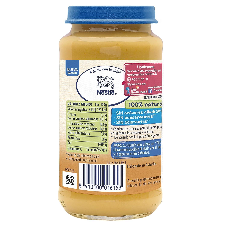 Nestlé Naturnes - Merienda Plátano, Naranja y Galleta - A partir de 4 meses - 250 g: Amazon.es: Alimentación y bebidas