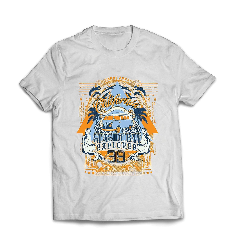 lepni.me Camisetas Hombre Primer Día de California - Explorador de la Bahía Costera - Ropa de Surf: Amazon.es: Ropa y accesorios