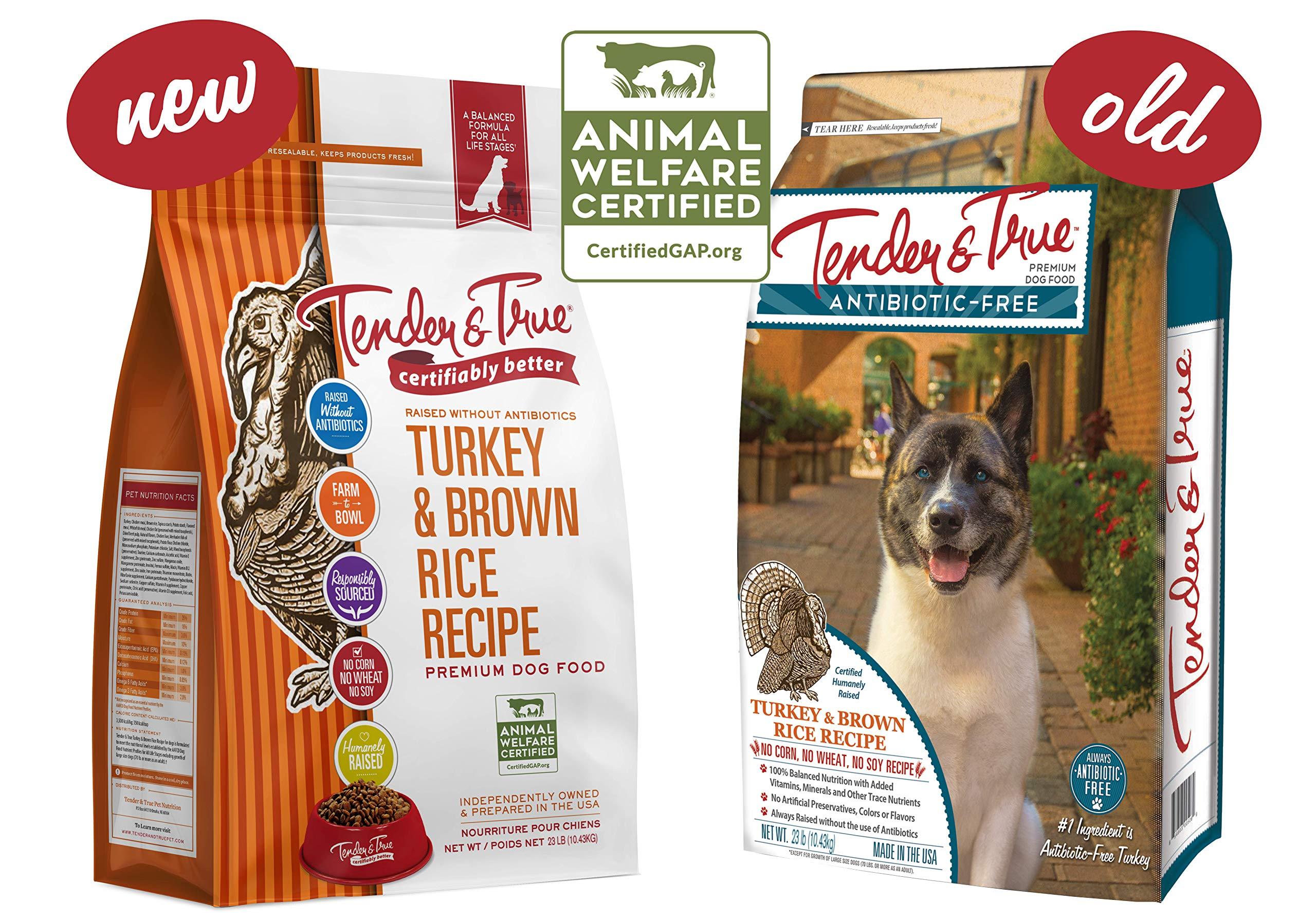 Tender & True Antibiotic-Free Turkey & Brown Rice Recipe Dog Food, 23lb by Tender & True Pet Nutrition