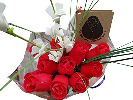 Amazoncom Valentines Day All Red Flower Bouquet The Original