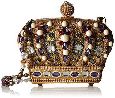 9632dcb076 MARY FRANCES Queendom Hand Beaded Jeweled Queen Royal Crown Handbag  Shoulder Bag