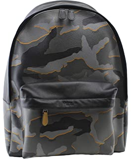 e89955f2f5f7 Coach Men s Charles West Backpack Camouflage in Grey Multi Leather