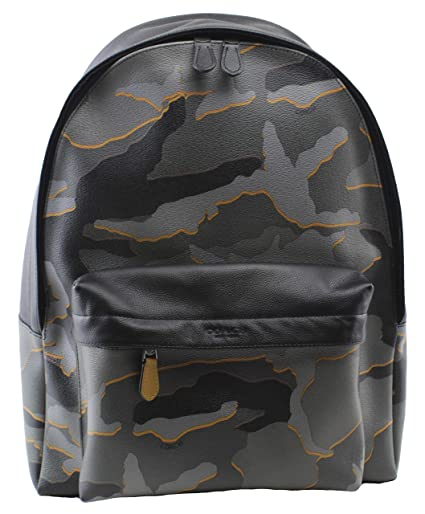 68583e0a2d33 Amazon.com  Coach Men s Charles West Backpack Camouflage in Grey Multi  Leather