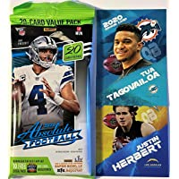 $26 » 2020 Panini ABSOLUTE NFL Football Factory Sealed JUMBO FAT PACK with 20 Cards! Find NFL Rookies of JUSTIN HERBERT, TUA TAGOVAILOA,…