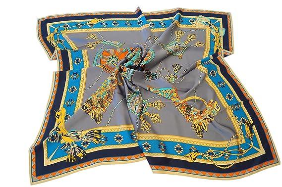 elegantes Seidentuch aus 16 Momme schwerer Seide-Satin 110x110cm,