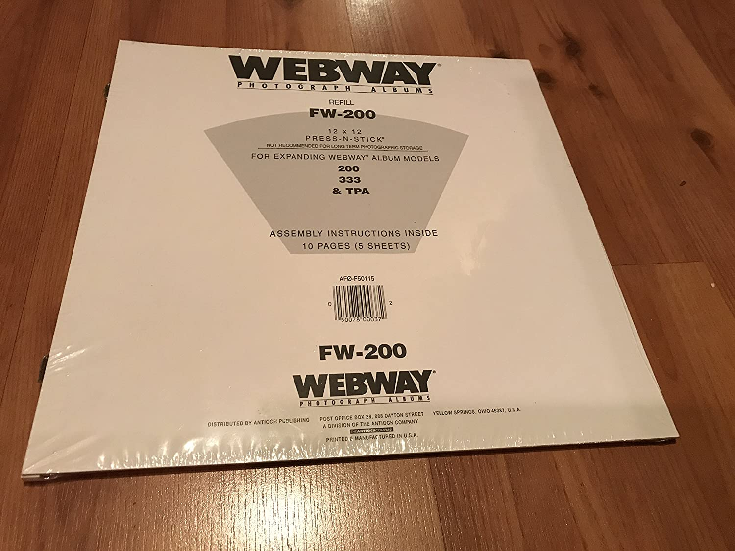 Amazon Webway Photograph Albums Refill Pages 12 X 12 Fw 200