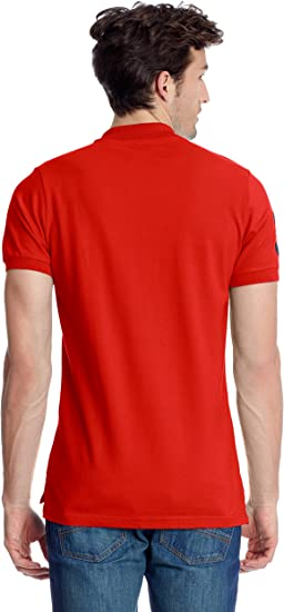 FRANK FERRY Polo Logo Rojo 2XL: Amazon.es: Ropa y accesorios