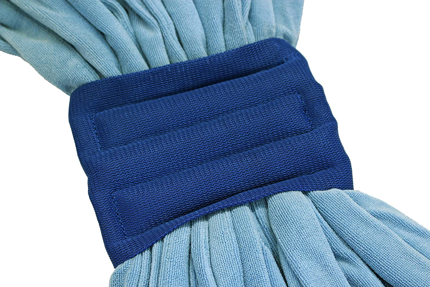 Industrial Wet Mops with Canvas Headbands SupplyBuy Large Microfiber Tube Mops Pack of 2