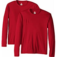 Hanes Men's Long Sleeve Cool Dri T-Shirt UPF 50+ (Pack of 2)