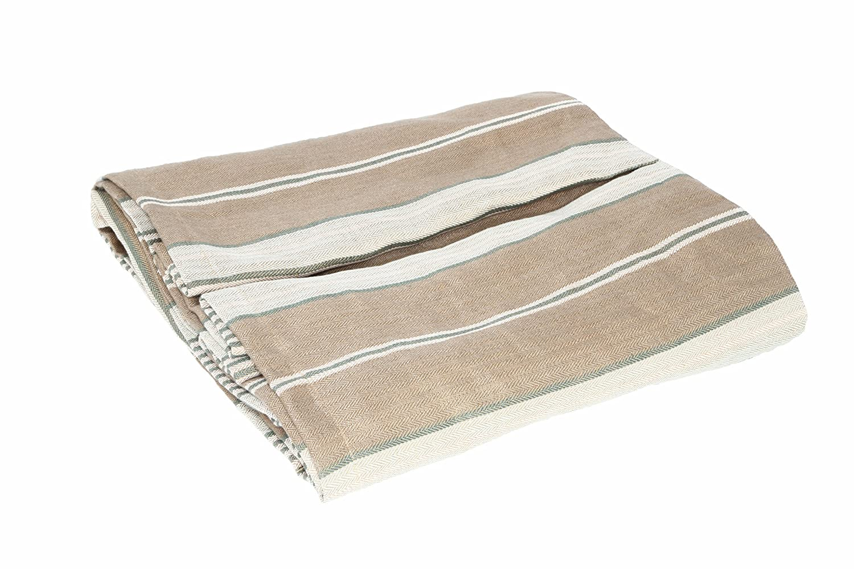 Kathryn Ireland Bradford Italian Stripe Linen EASTERN CAL KING QUEEN Bed Skirt