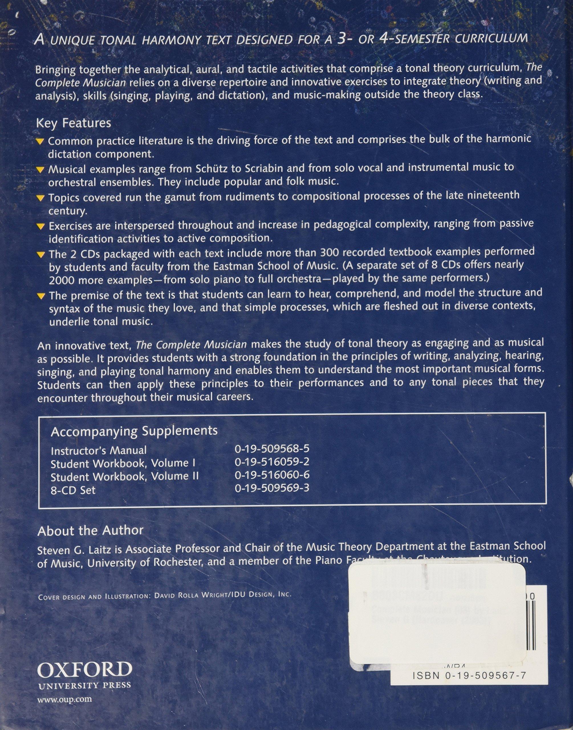 Complete Musician (03) by Laitz, Steven G [Hardcover (2003)]: Laitz:  Amazon.com: Books