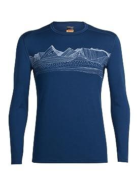 Icebreaker 103845401 XXL Camisa y Camiseta T-Shirt Crew Neck Long Sleeve - Camisas y