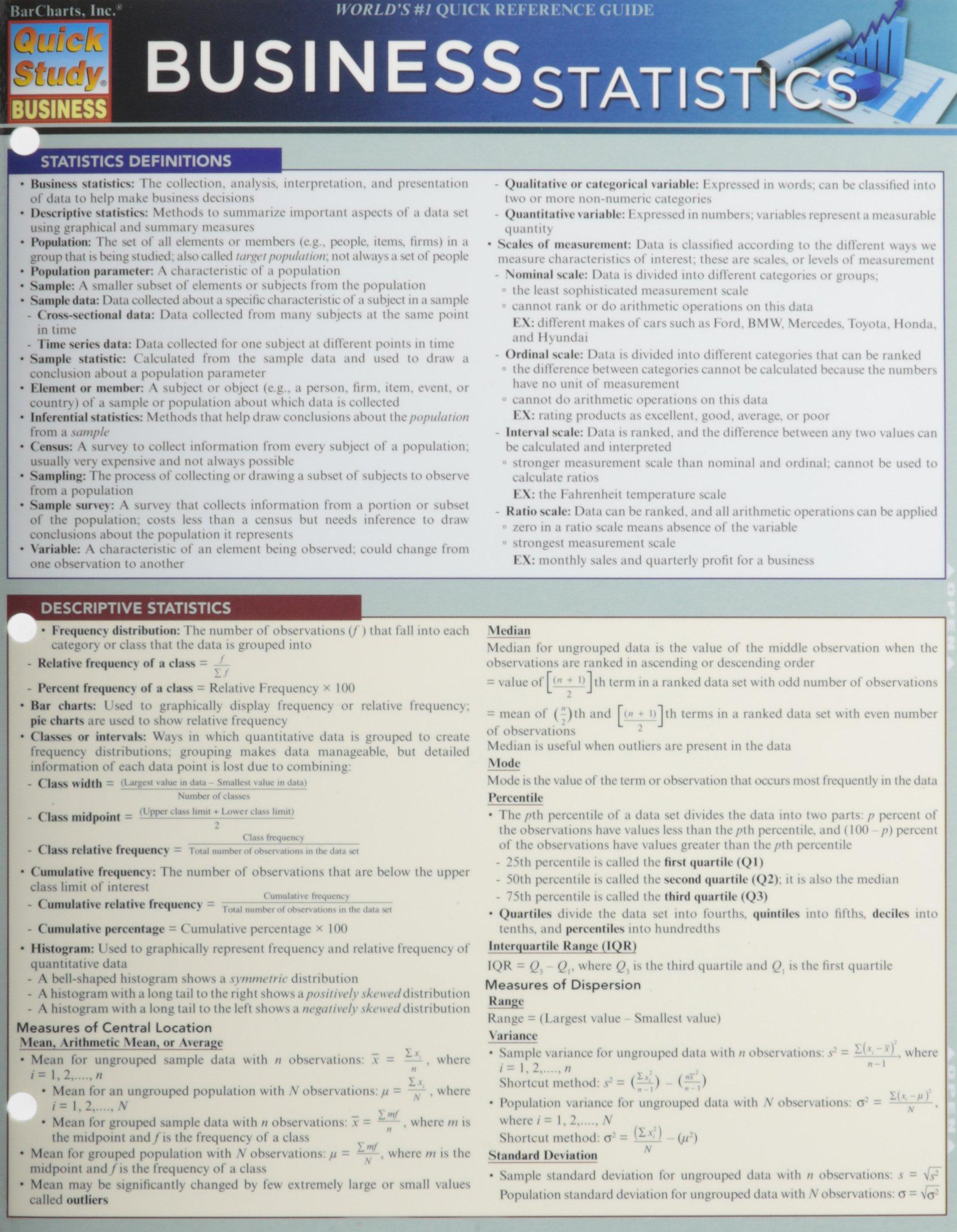 business statistics quick study business inc barcharts rh amazon com statistics study guide quizlet statistics study guide pdf