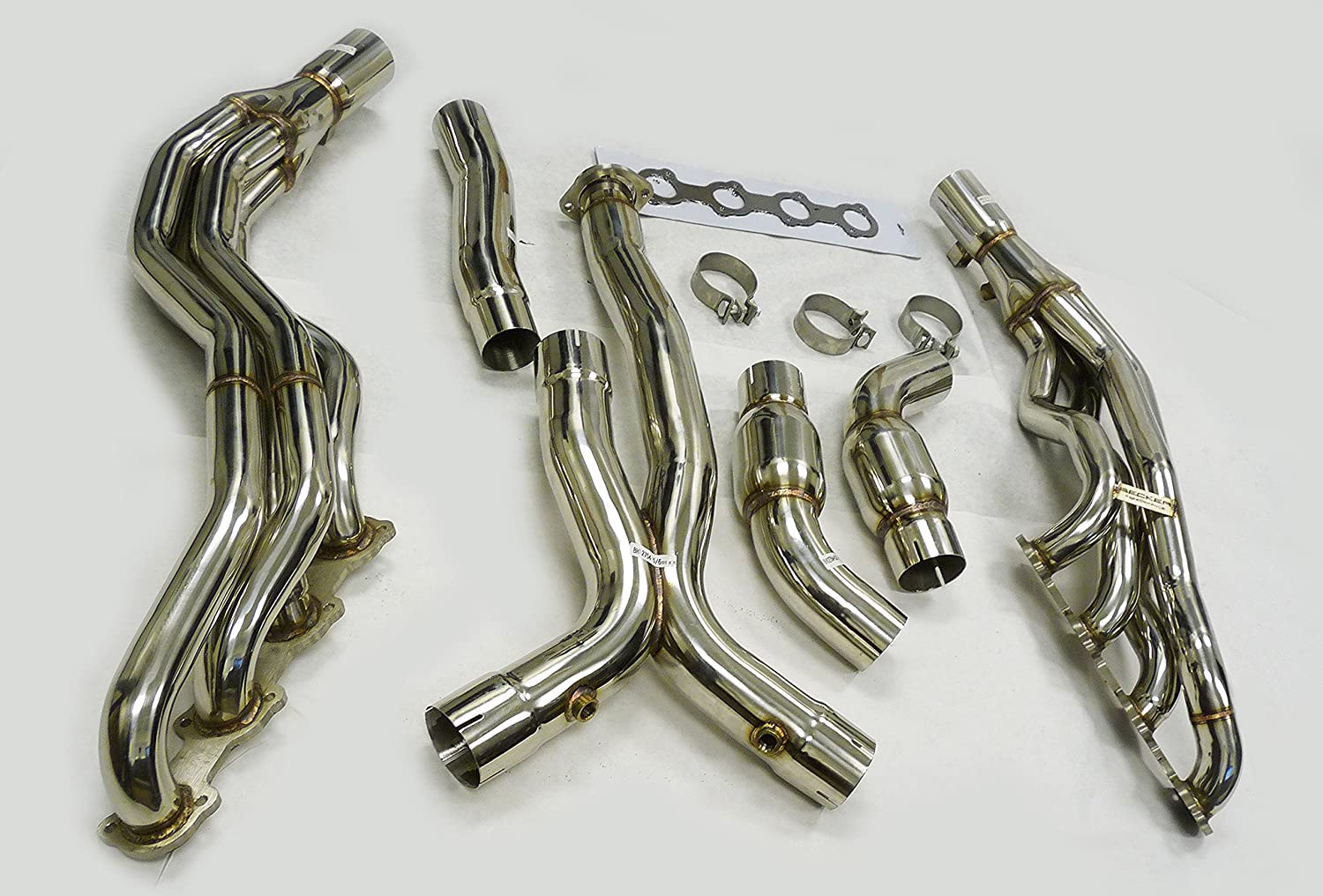 Amazon com: OBX Performance Catted Exhaust Header Manifold 03-06 E55