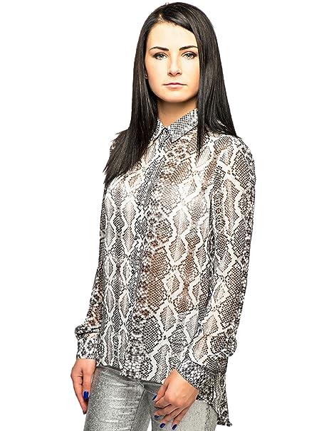Blusa de Pyton print Heach SIlvian | Asimétrica funda rígida de flores saliendo de un cut