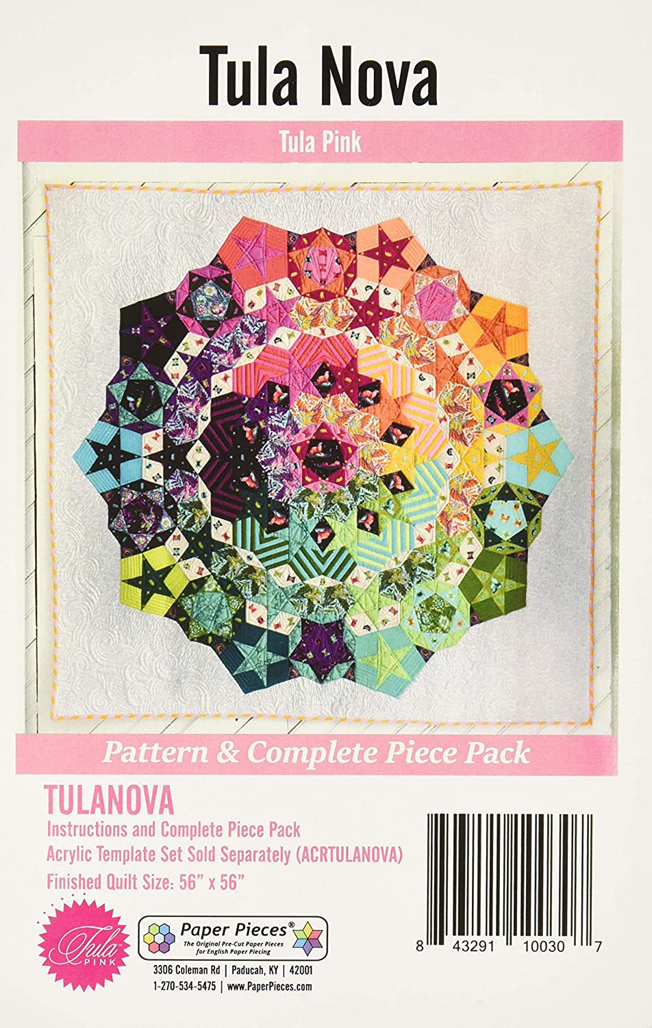 None Paper Pieces TULANOVA Pack for Tula Nova Complete Set Pattern Included