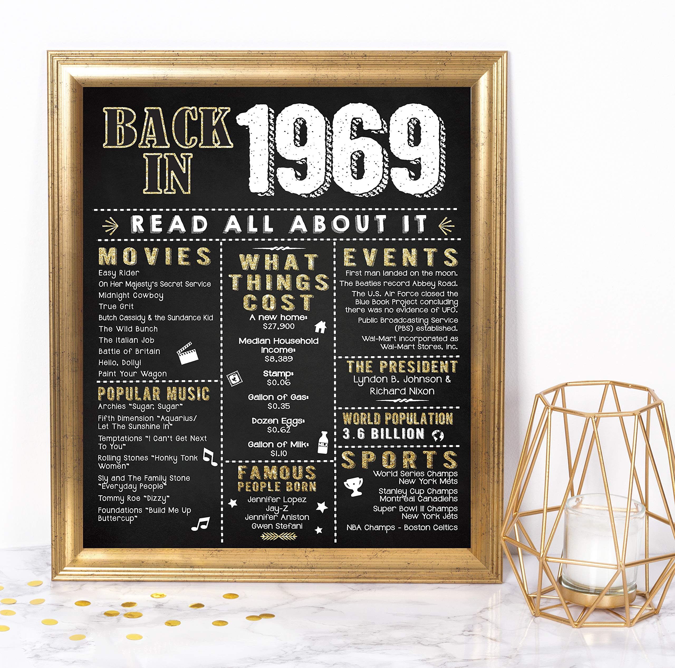 9a5f5848ae0c9 Katie Doodle 50th Birthday Decorations Gifts for Women or Men | Includes  8x10 Back-in
