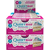 Quest Nutrition Protein Bar Birthday Cake. Low Carb Meal Replacement Bar w/ 20g+ Protein. High Fiber, Soy-Free, Gluten-Free (24 Count)