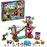 LEGO Friends Jungle Rescue Base 41424 Building Toy for Kids, Animal Rescue Kit that Includes a Jungle Tree House and 2 Elepha