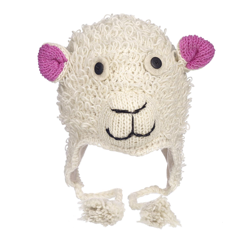Paper High Men's Fun Sheep Handmade Winter Woollen Animal Hat with Fleece Lining