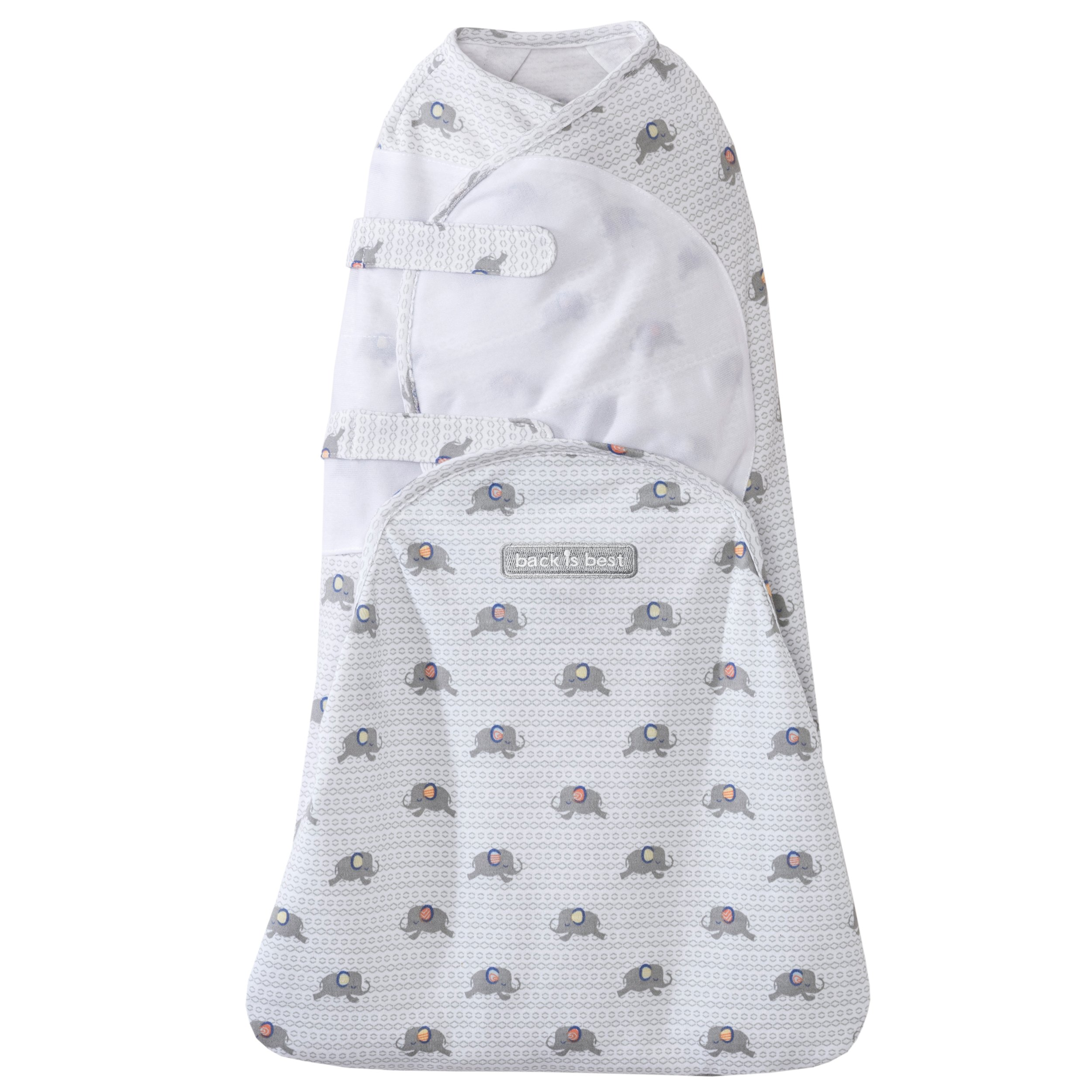 Halo Swaddlesure Adjustable Swaddling Pouch, Elephant, Newborn