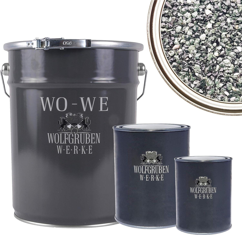 Mischeimer 1,5kg Epoxidharz Bindemittel WO-WE Steinteppich SET 25kg Marmorkies Gelb 4-8mm
