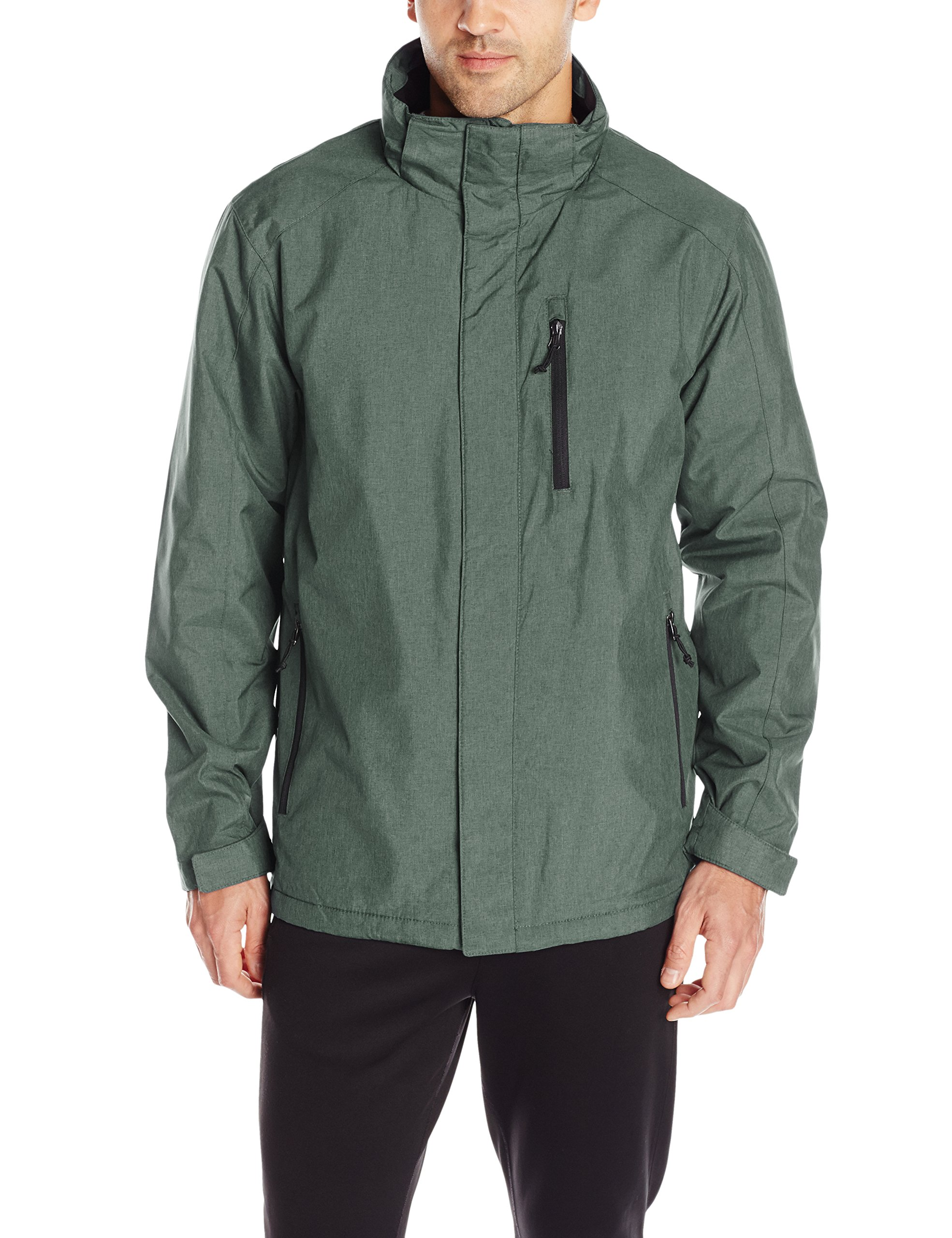 32Degrees Weatherproof Men's 3 in 1 Systems Jacket with Inner Fleece, Pine Melange, XX-Large by 32 DEGREES
