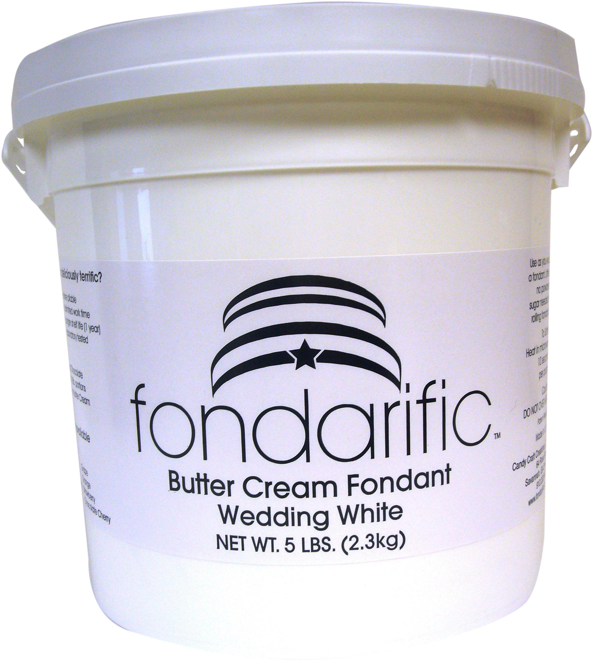 Fondarific Buttercream Wedding White Fondant, 5-Pounds by Fondarific (Image #2)
