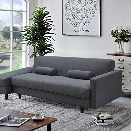 Amazon.com: Convertible Sectional Sofa Couch, Modern Folding ...