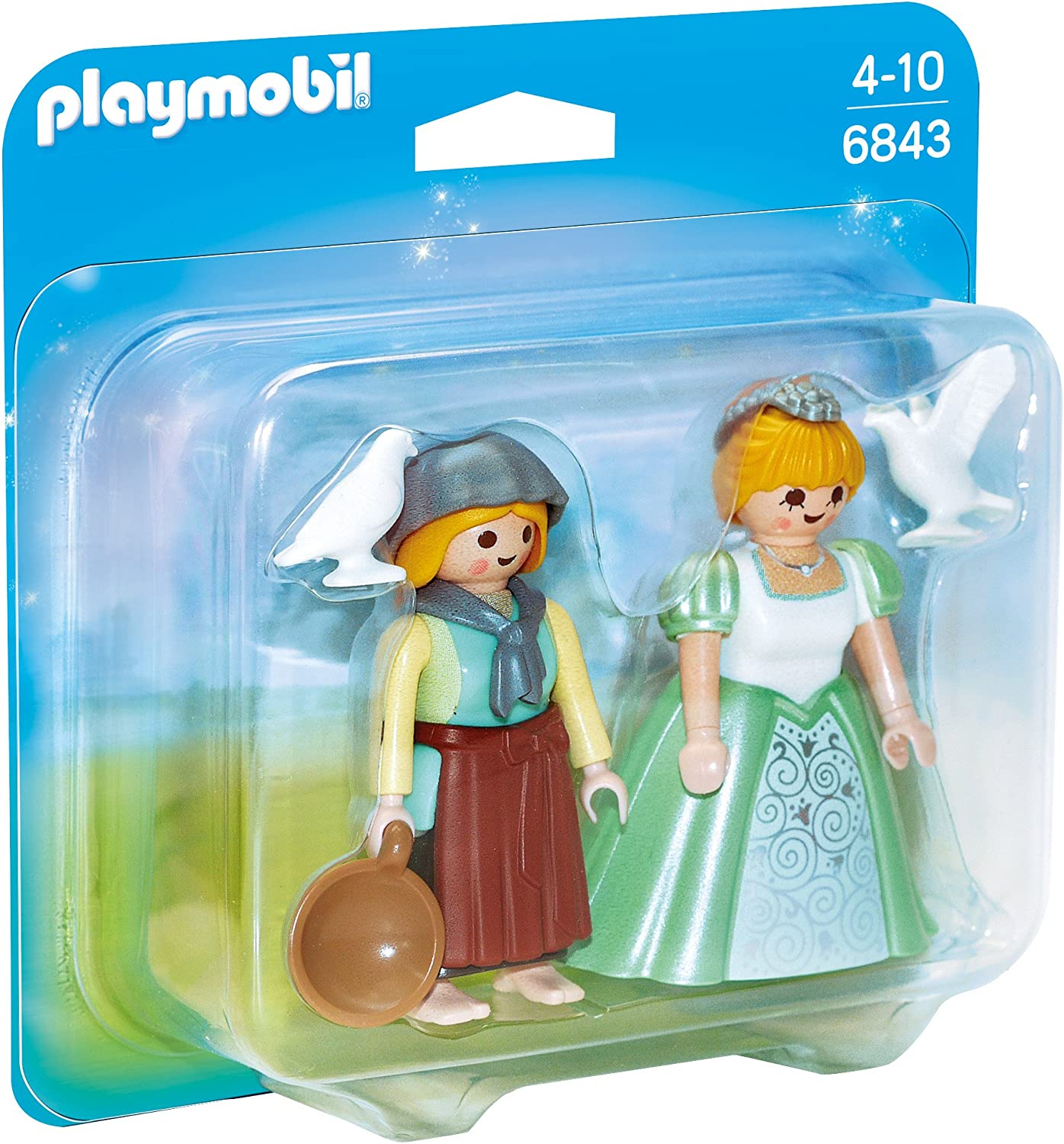 PLAYMOBIL Duo Pack - Duo Pack Princesa y Granjera (6843): Amazon ...