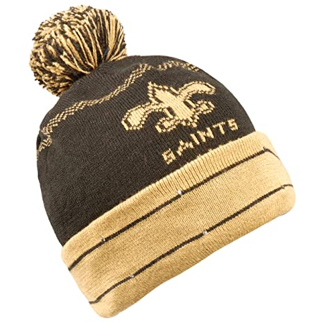 65b07bc1 Forever Collectibles NFL New Orleans Saints LED Pom Pom Knit Hat, Black,  One Size
