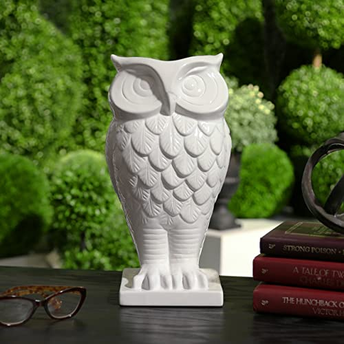 Urban Trends 70351 Decorative Ceramic Owl Vase