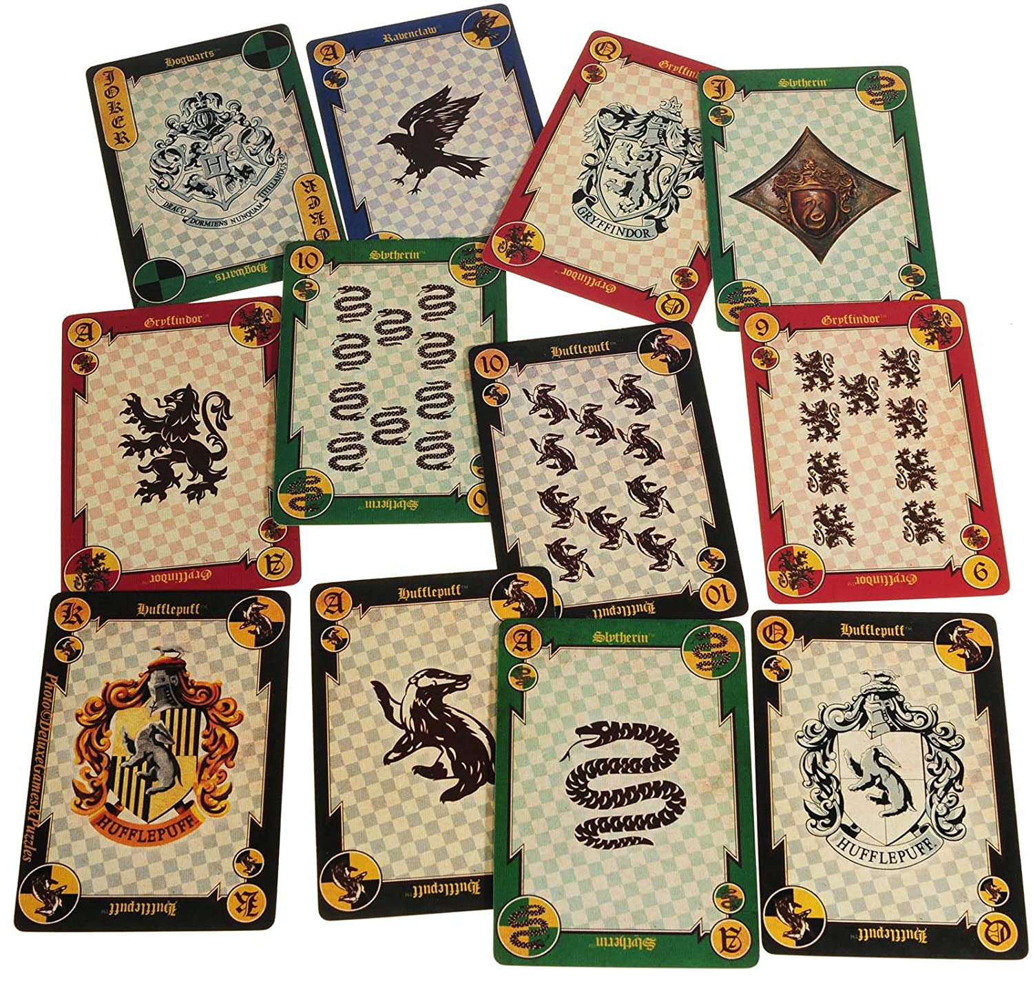 Amazon Harry Potter Symbols and House Crests Themed Playing
