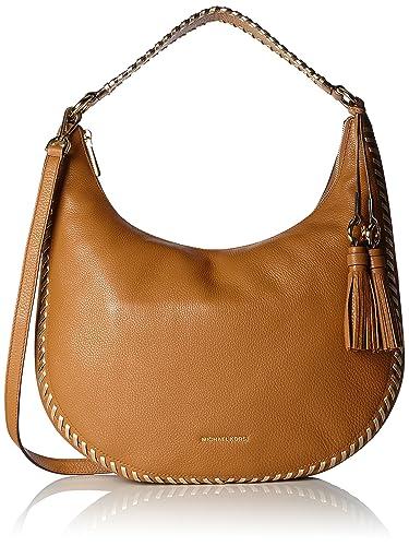 Amazon.com: MICHAEL KORS Lauryn Large Leather Shoulder Bag in ...