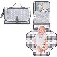Baby Portable Changing Pad, Diaper Bag, Travel Mat Station Grey Large (Grey)