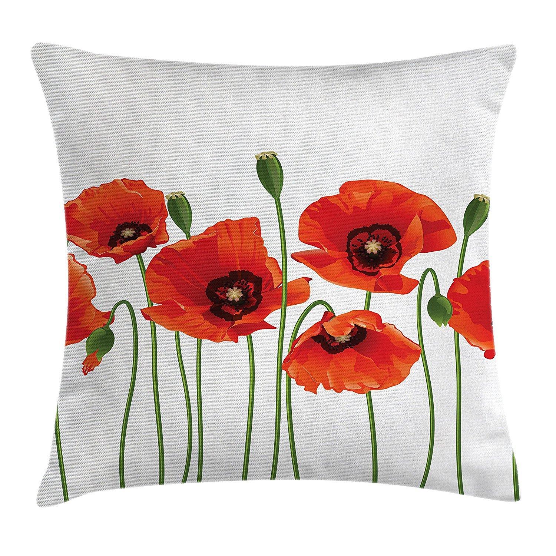 Funda de cojín con diseño floral, diseño de flores ...